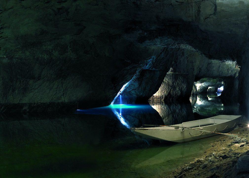 Unterirdischer See von St. Léonard
