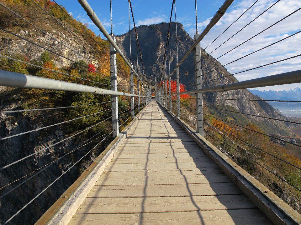 Die Farinet-Hängebrücke
