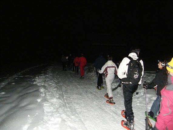 Night hiking to Loutze