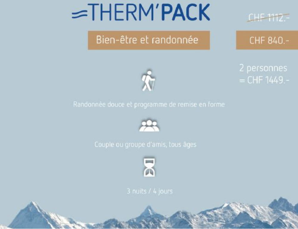Therm'pack wandern und Bad