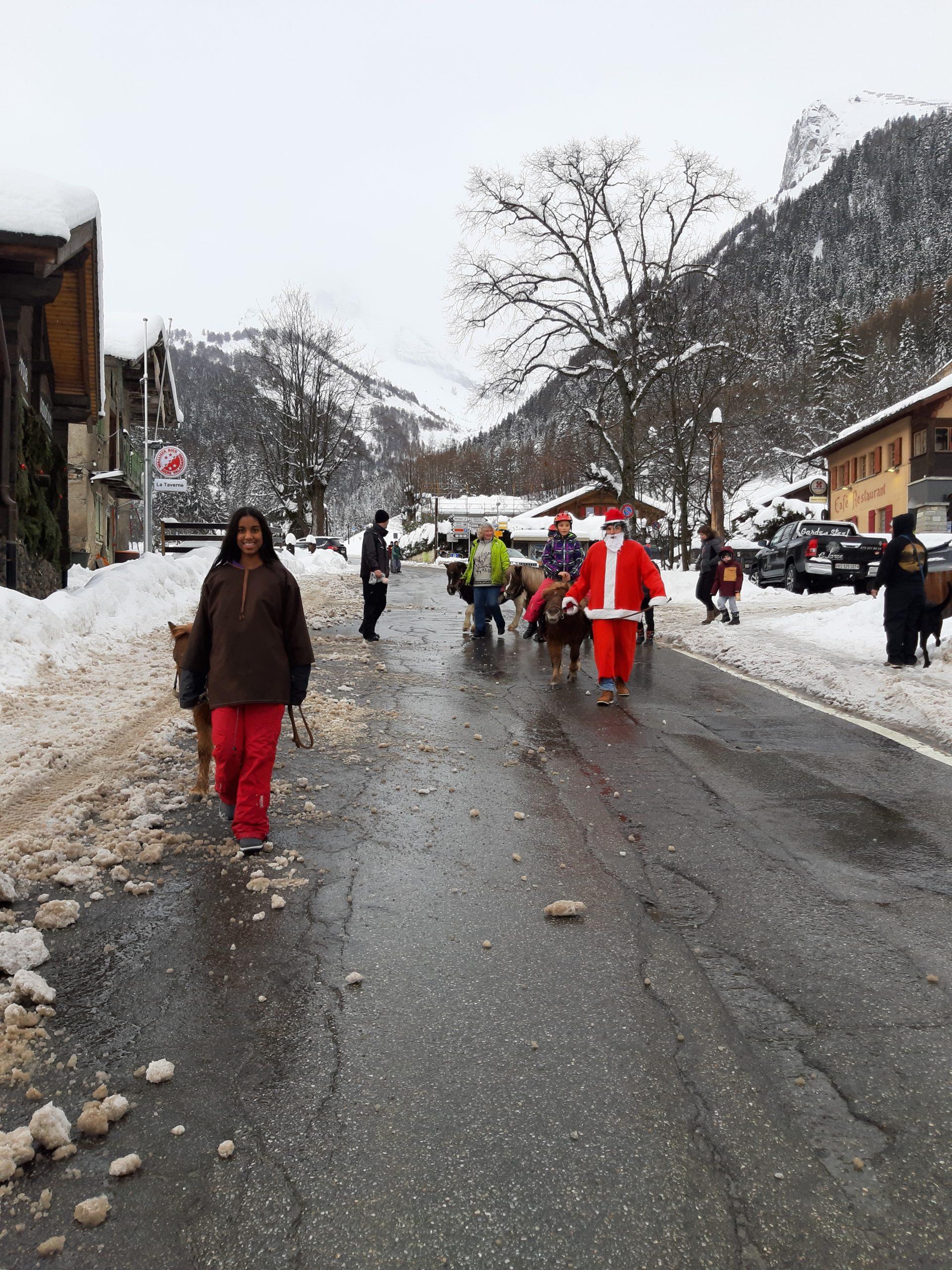 Besuch des Weihnachtsmanns